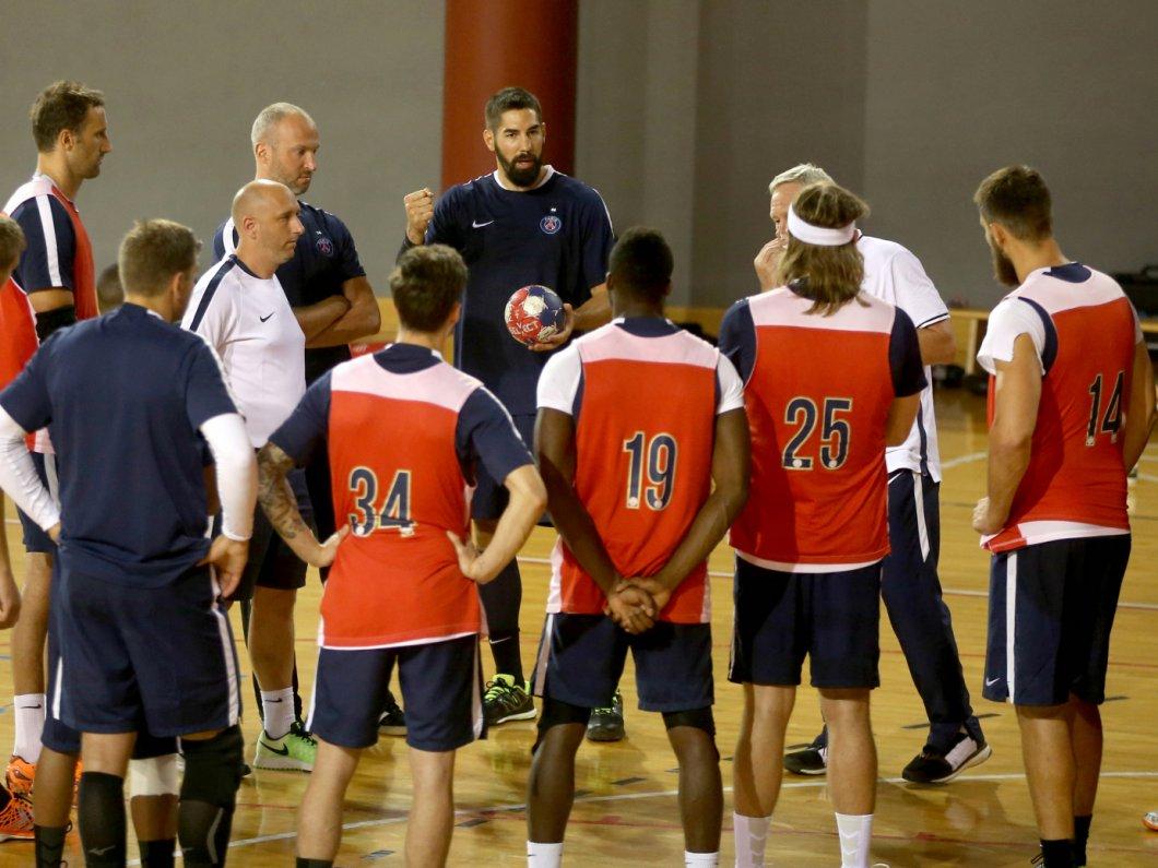 ハンドボールのチーム練習イメージ